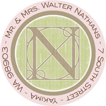 Name Doodles - Round Address Labels/Stickers (Architect Pink)